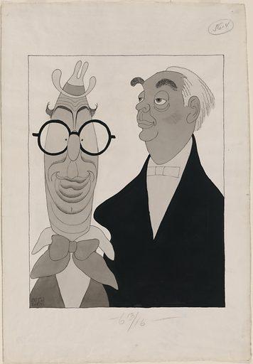 Ed Wynn and Richard B. Harrison. Sitters: Ed Wynn, 9 Nov 1886 – 19 Jun 1966; Richard Berry Harrison, 28 Sep 1864 – 14 Mar 1935. Date: 1930s. Record ID: npg_NPG.2003.27.
