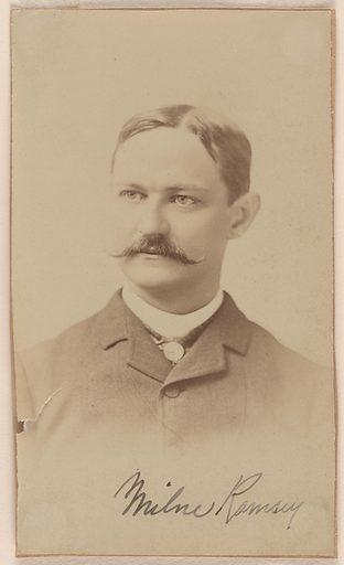 Milne Ramsey. Sitter: Milne Ramsey, 1847 – 16 Mar 1915. Record ID: npg_S_NPG.76.48.