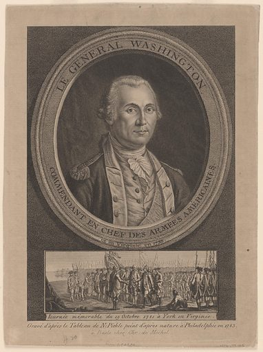 George Washington. Sitter: George Washington, 22 Feb 1732 – 14 Dec 1799. Date: 1770s. Record ID: npg_NPG.79.145.