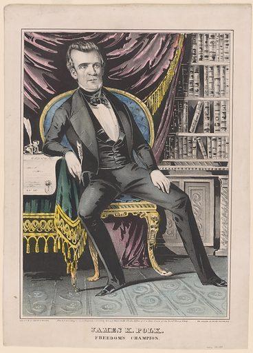 James K. Polk. Sitter: James Knox Polk, 2 Nov 1795 – 15 Jun 1849. Date: 1840s. Record ID: npg_NPG.79.138.