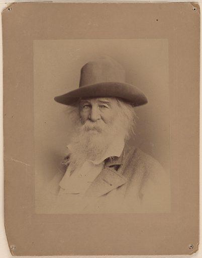 Walt Whitman. Sitter: Walt Whitman, 31 May 1819 – 26 Mar 1892. Date: 1880s. Record ID: npg_NPG.76.94.