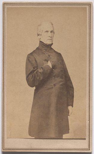 John Ellis Wool. Sitter: John Ellis Wool, 29 Feb 1784 – 10 Nov 1869. Date: 1880s. Record ID: npg_S_NPG.85.266.