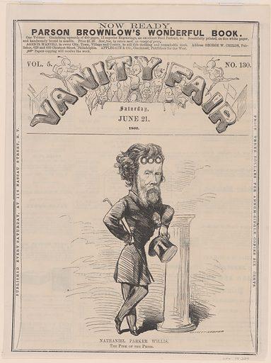 Nathaniel Parker Willis. Sitter: Nathaniel Parker Willis, 20 Jan 1806 – 20 Jan 1867. Date: 1860s. Record ID: npg_NPG.78.224.