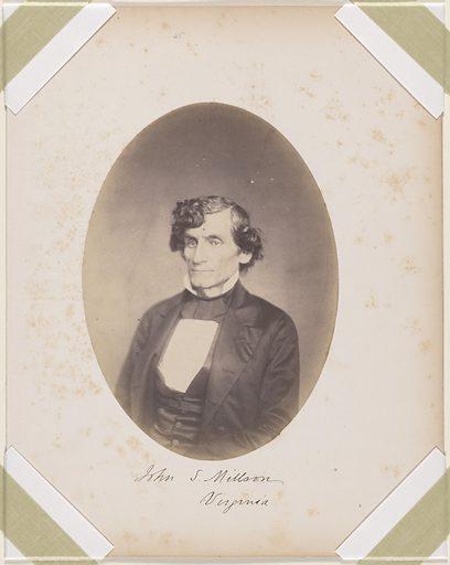 John Singleton Millson. Sitter: John Singleton Millson, 01 Oct 1808 – 01 Mar 1874. Date: 1850s. Record ID: npg_S_NPG.87.42.41.