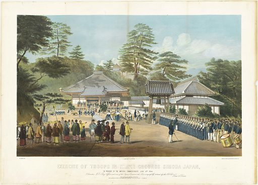 Exercise of Troops in Temple Grounds. Sitter: Matthew Calbraith Perry, 10 Apr 1794 – 4 Mar 1858. Date: 1850s. Record ID: npg_NPG.82.114.