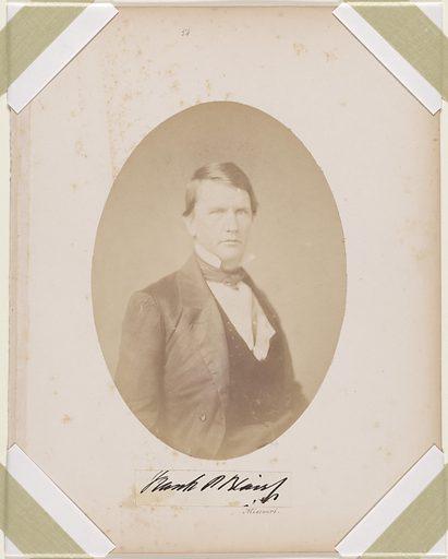 Francis Preston Blair, Jr. Sitter: Francis Preston Blair, Jr., 19 Feb 1821 – 9 Jul 1875. Date: 1880s. Record ID: npg_NPG.87.42.50.