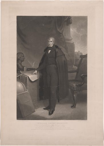 William Henry Harrison. Sitter: William Henry Harrison, 9 Feb 1773 – 4 Apr 1841. Date: 1840s. Record ID: npg_NPG.80.54.