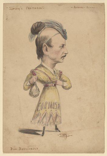 Dion Boucicault. Sitter: Dion Boucicault, 26 Dec 1820 – 18 Sep 1890. Date: 1860s. Record ID: npg_NPG.83.204.