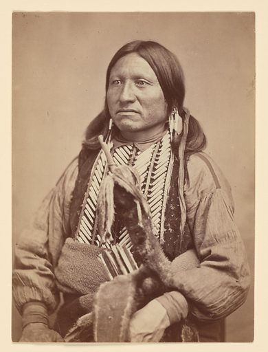 Kicking Bird. Sitter: Kicking Bird, c. 1835 – 3 May 1875. Date: 1860s. Record ID: npg_NPG.95.372.
