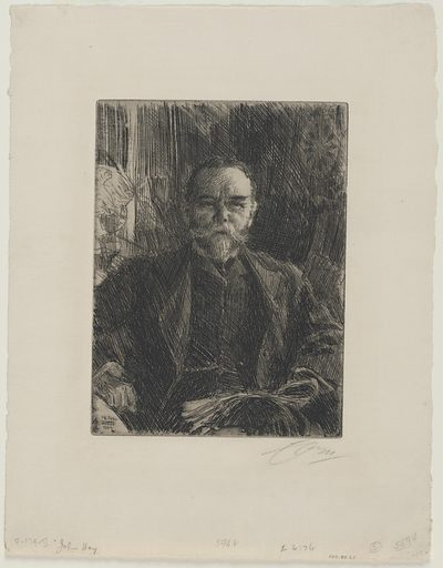 John Milton Hay. Sitter: John Milton Hay, 8 Oct 1838 – 1 Jul 1905. Date: 1900s. Record ID: npg_NPG.74.21.