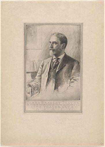 James Bradley Thayer. Sitter: James Bradley Thayer, 15 Jan 1831 – 14 Feb 1902. Date: 1900s. Record ID: npg_NPG.81.66.