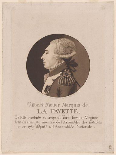 Marquis De Lafayette. Sitter: Marquis de Lafayette, 6 Sep 1757 – 20 May 1834. Date: 1890s. Record ID: npg_S_NPG.78.215.