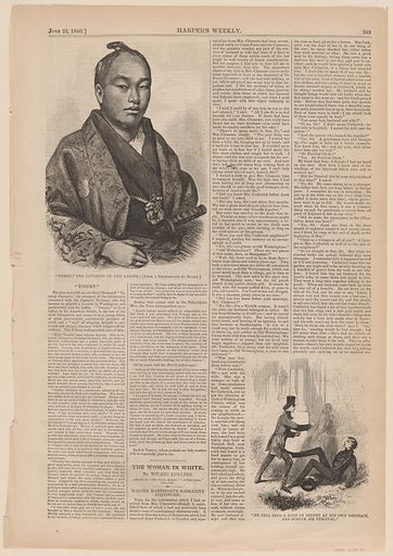 """Our Japanese Visitor """"Tommy"""" Among the Ladies of Washington. Sitter: Tommy, active c. 1860. Date: 1860s. Record ID: npg_S_NPG.75.14."""