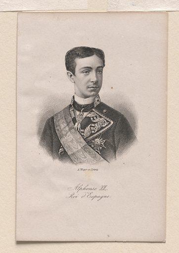 King Alphonse XII. Sitter: King Alphonse XII, 1857 – 1885. Date: 1900s. Record ID: npg_S_NPG.72.10.