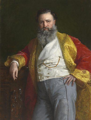 Isaac Merrit Singer. Sitter: Isaac Merrit Singer, 27 Oct 1811 – 23 Jul 1875. Date: 1860s. Record ID: npg_NPG.75.37.