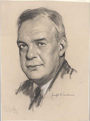 Joseph Eastman. Sitter: Joseph Bartlett Eastman, 1882 – 1944. Date: 1920s. Record ID: npg_NPG.88.TC103.