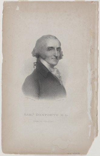 Samuel Danforth. Sitter: Samuel Danforth, 1740 – 1827. Date: 1820s. Record ID: npg_S_NPG.78.50.