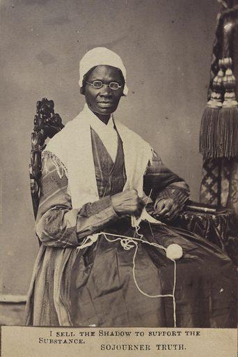 Sojourner Truth. Sitter: Sojourner Truth, c. 1797 – 26 Nov 1883. Date: 1860s. Record ID: npg_NPG.78.207.
