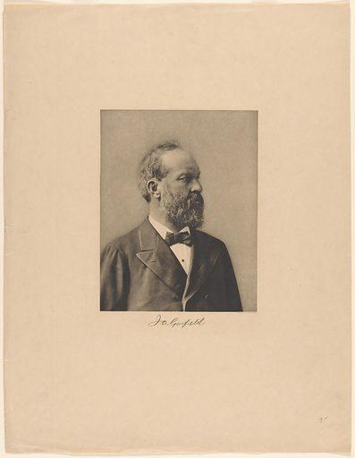 James Garfield. Sitter: James Abram Garfield, 19 Nov 1831 – 19 Sep 1881. Date: 1880s. Record ID: npg_S_NPG.78.63.