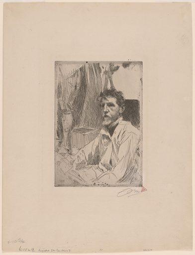 Augustus Saint-Gaudens. Sitter: Augustus Saint-Gaudens, 1 Mar 1848 – 3 Aug 1907. Date: 1890s. Record ID: npg_NPG.73.38.