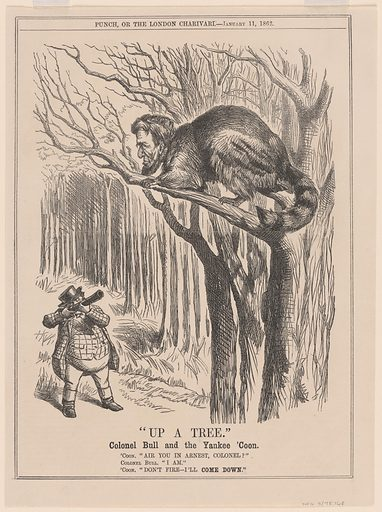 Up a Tree. Sitter: Abraham Lincoln, 12 Feb 1809 – 15 Apr 1865. Date: 1860s. Record ID: npg_S_NPG.78.168.