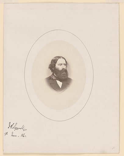 James Russell Lowell. Sitter: James Russell Lowell, 22 Feb 1819 – 12 Aug 1891. Date: 1860s. Record ID: npg_NPG.77.203.