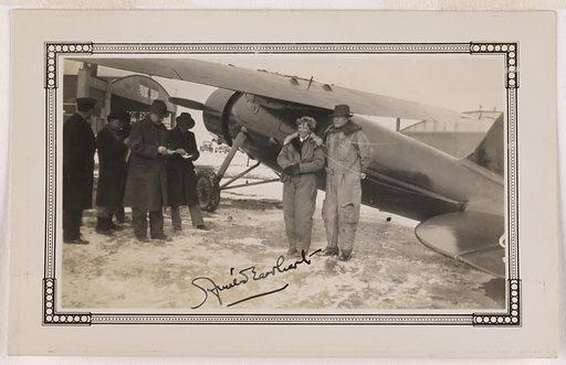 Amelia Earhart and George Putnum. Sitters: Amelia Mary Earhart, 24 Jul 1897 – c. 2 Jul 1937; George Palmer Putnum, 1887 – 1950. Record ID: npg_S_NPG.76.56.