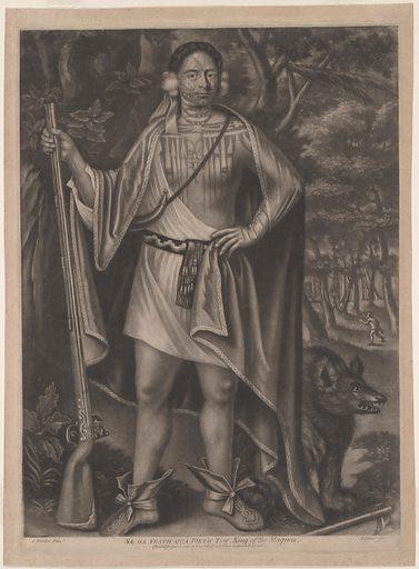 Sa Ga Yeath Qua Pieth Tow. Sitter: Sa Ga Yeath Qua Pieth Tow, 17th – 18th Century. Date: 1710s. Record ID: npg_NPG.74.22.