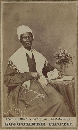 Sojourner Truth. Sitter: Sojourner Truth, c. 1797 – 26 Nov 1883. Date: 1860s. Record ID: npg_NPG.79.209.