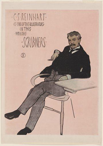 Charles Stanley Reinhart. Sitter: Charles Stanley Reinhart, 1844 – 1896. Date: 1890s. Record ID: npg_S_NPG.84.435.