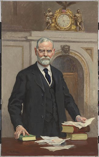 James Robert Mann. Sitter: James Robert Mann, 20 Oct 1856 – 30 Nov 1922. Date: 1920s. Record ID: npg_NPG.66.62.