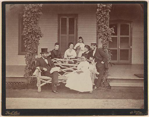 Ulysses S. Grant and Family. Sitter: Ulysses Simpson Grant, 27 Apr 1822 – 23 Jul 1885. Date: 1880s. Record ID: npg_NPG.77.133.