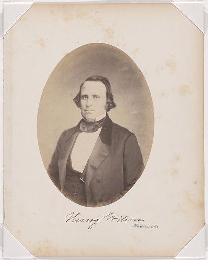 Henry Wilson. Sitter: Henry Wilson, 16 Feb 1812 – 22 Nov 1875. Date: 1850s. Record ID: npg_NPG.87.42.16.