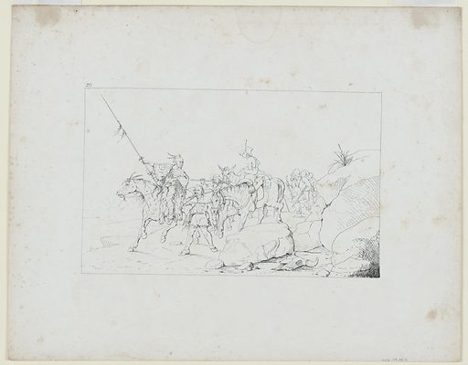 Johnston Crossing the Desert to Join the Southern Army. Sitter: Albert Sidney Johnston, 2 Feb 1803 – 6 Apr 1862. Date: 1880s. Record ID: npg_NPG.79.95.T.