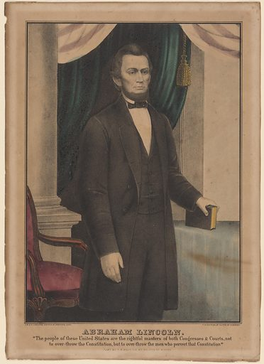 Abraham Lincoln. Sitter: Abraham Lincoln, 12 Feb 1809 – 15 Apr 1865. Date: 1860s. Record ID: npg_NPG.83.221.