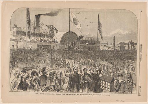 The Landing of the Japanese Embassy. Date: 1860s. Record ID: npg_S_NPG.75.12.