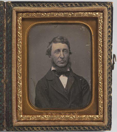 Henry David Thoreau. Sitter: Henry David Thoreau, 12 Jul 1817 – 6 May 1862. Date: 1850s. Record ID: npg_NPG.72.119.