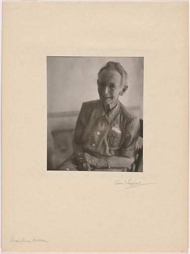 Grandma Moses. Sitter: Anna Mary Robertson Moses, 7 Sep 1860 – 13 Dec 1961. Date: 1940s. Record ID: npg_NPG.81.8.