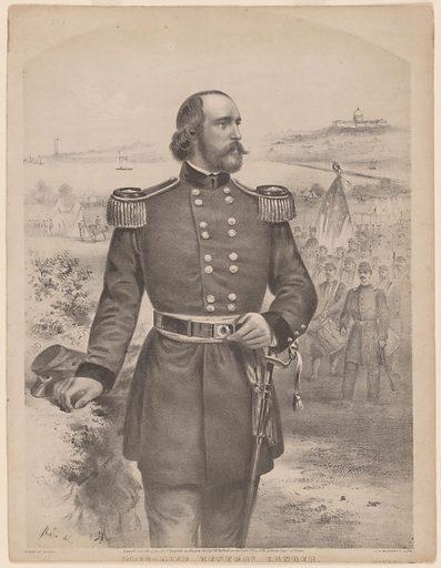 Frederick West Lander. Sitter: Frederick West Lander, 17 Dec 1821 – 2 Mar 1862. Date: 1880s. Record ID: npg_S_NPG.79.41.