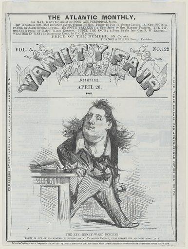 Henry Ward Beecher. Sitter: Henry Ward Beecher, 24 Jun 1813 – 8 Mar 1887. Date: 1860s. Record ID: npg_NPG.78.226.