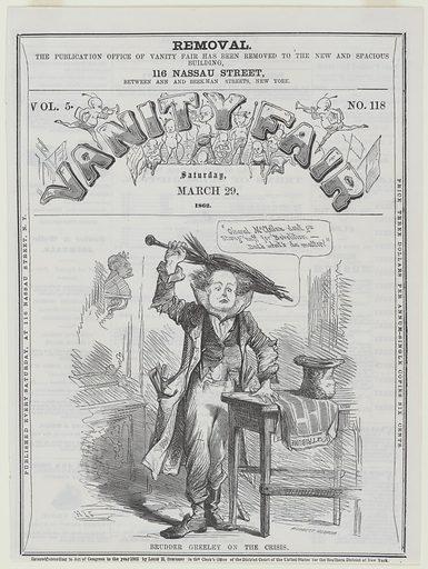 Horace Greeley. Sitter: Horace Greeley, 3 Feb 1811 – 29 Nov 1872. Date: 1860s. Record ID: npg_NPG.85.59.