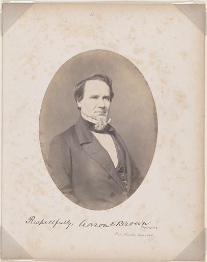 Aaron Venable Brown. Sitter: Aaron Venable Brown, 15 Aug 1795 – 08 Mar 1859. Date: 1850s. Record ID: npg_S_NPG.87.42.8.