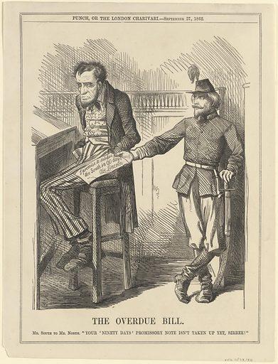 Abraham Lincoln -- Overdue Bill. Sitter: Abraham Lincoln, 12 Feb 1809 – 15 Apr 1865. Date: 1860s. Record ID: npg_S_NPG.78.180.