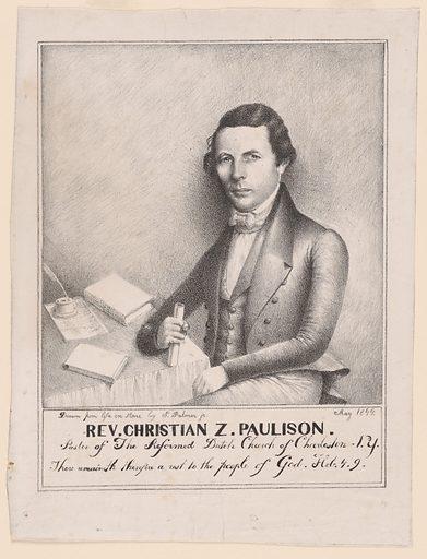 Christian Zabriskie Paulison. Sitter: Christian Zabriskie Paulison, 1805 – 1851. Date: 1840s. Record ID: npg_S_NPG.81.19.