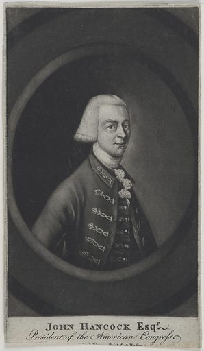 John Hancock. Sitter: John Hancock, 12 Jan 1737 – 8 Oct 1793. Date: 1770s. Record ID: npg_NPG.77.86.