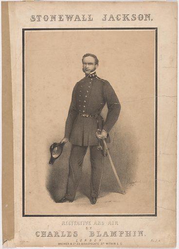 Stonewall Jackson. Sitter: Thomas Jonathan Jackson, 21 Jan 1824 – 10 May 1863. Date: 1880s. Record ID: npg_NPG.84.347.