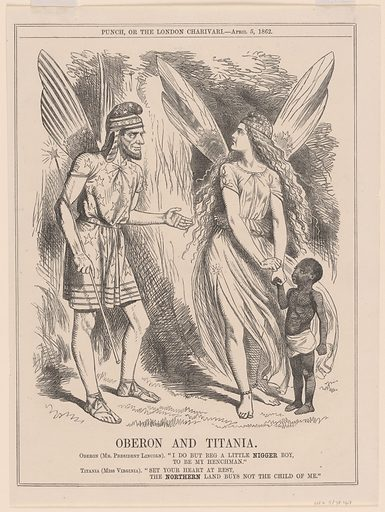 Oberon and Titania. Sitter: Abraham Lincoln, 12 Feb 1809 – 15 Apr 1865. Date: 1860s. Record ID: npg_S_NPG.78.167.