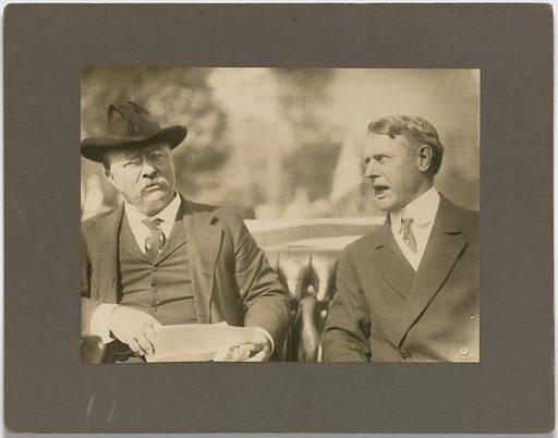 Theodore Roosevelt and Albert Beveridge. Sitters: Theodore Roosevelt, 27 Oct 1858 – 6 Jan 1919; Albert Jeremiah Beveridge, 1862 – 1927. Date: 1910s. Record ID: npg_S_NPG.81.39.