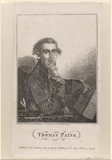Thomas Paine. Sitter: Thomas Paine, 29 Jan 1737 – 8 Jun 1809. Date: 1790s. Record ID: npg_NPG.78.24.