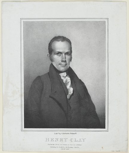 Henry Clay. Sitter: Henry Clay, 12 Apr 1777 – 29 Jun 1852. Date: 1820s. Record ID: npg_NPG.78.39.